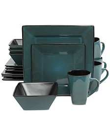 Gibson Kiesling Teal 16-Pc. Dinnerware Set