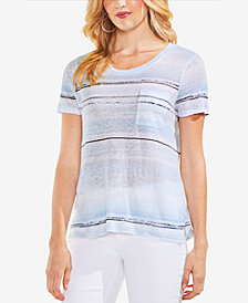 Vince Camuto Striped Linen Top
