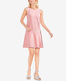 Vince Camuto Sleeveless Faux-Suede Shift Dress
