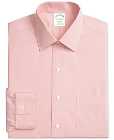 Brooks Brothers Men's Milano Extra Slim-Fit Non-Iron Ainsley Broadcloth Stretch Dress Shirt