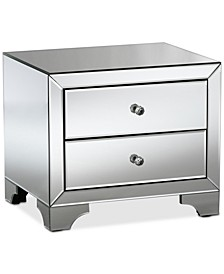 Farrah Mirrored Nightstand
