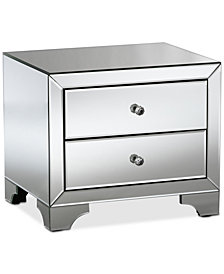 Farrah Mirrored Nightstand, Quick Ship