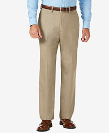 J.M. Sharkskin Classic-Fit Flat Front Premium Flex Waistband Dress Pants