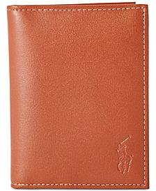 Polo Ralph Lauren Men's Wallet, Burnished Billfold Wallet with Window