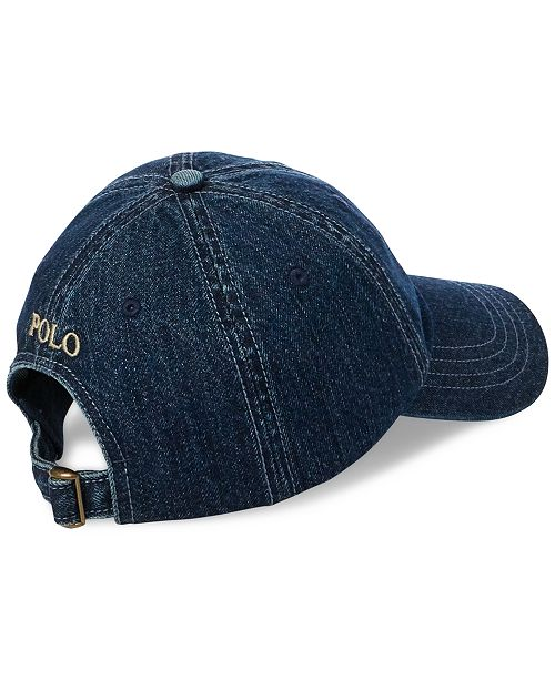 Polo Ralph Lauren Men s Denim Baseball Cap - Hats 6092b5aa9ab