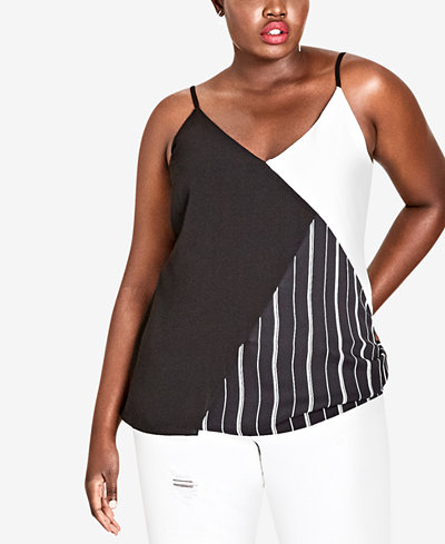 City Chic Trendy Plus Size Colorblocked Tank
