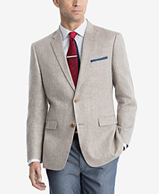 CLOSEOUT! Tommy Hilfiger Men's Modern-Fit Tan Herringbone Sport Coat