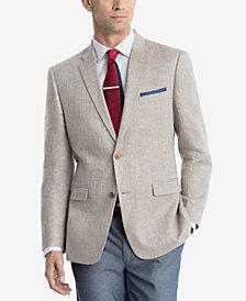 CLOSEOUT! Tommy Hilfiger Men's Modern-Fit Tan Herringbone Sport Coat