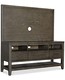 Bravel 60'' Entertainment Center, 2-Pc. Set (Entertainment Console & Back Panel)
