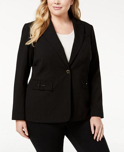 Calvin Klein Plus Size Hardware-Detail Blazer