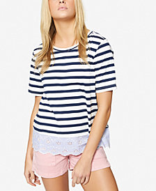 Sanctuary Long Beach Striped Contrast T-Shirt
