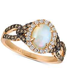 Le Vian Chocolatier® Neopolitan Opal™ (5/8 ct. t.w.) & Diamond (5/8 ct. t.w.) Ring in 14k Rose Gold