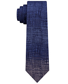 Calvin Klein Men's Artistic Indigo Skinny Silk Tie