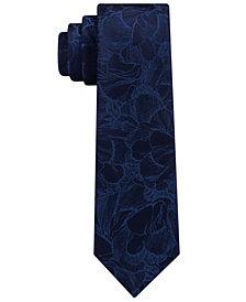 Calvin Klein Men's Camouflage Botanical Skinny Silk Tie
