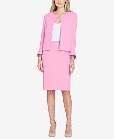 Tahari ASL Pleat-Back Skirt Suit, Regular & Petite