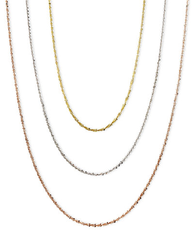 14k Gold, 14k Rose Gold and 14k White Gold Necklaces, 16-24