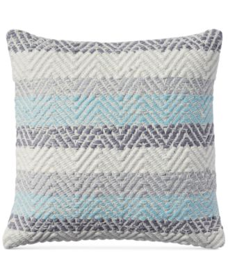 """CLOSEOUT! Jersey Chevron 18"""" x 18"""" Decorative Pillow, Created for Macy's"""