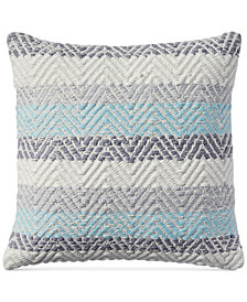"Lucky Brand Jersey Chevron 18"" x 18"" Decorative Pillow, Created for Macy's"