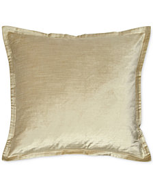 "Donna Karan Velvet Quilted Vapor 20"" Square Decorative Pillow"