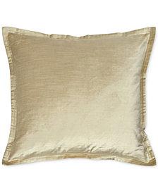 "Donna Karan Velvet Quilted Vapor 20"" Square Decorative Pillow"
