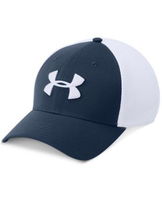 Under Armour Menu0027s Classic Colorblocked Mesh Fitted Hat
