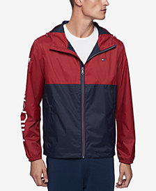 Tommy Hilfiger Men's Colorblocked Logo Rain Slicker