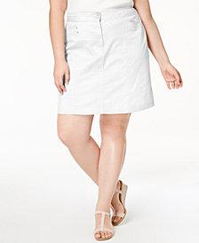 Karen Scott Plus Size A-Line Skort, Created for Macy's