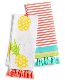 Martha Stewart Collection 2-Pc. Fiesta Kitchen Towel Set, Created for Macy's