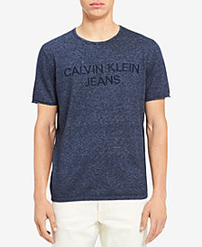 Calvin Klein Jeans Men's Marled Embroidered-Logo T-Shirt
