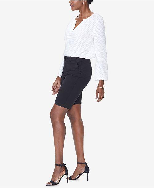 Bermuda Black Shorts Rise NYDJ Mid 0wS1aT