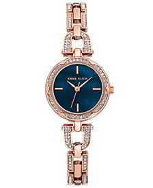 Anne Klein Women's Rose Gold-Tone Stainless Steel Bracelet Watch 20mm