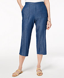 Alfred Dunner Petite Sun City Pull-On Cropped Pants