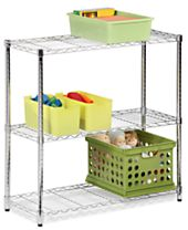 "Honey Can Do Storage Shelf, 48"" Chrome 3 Tier"