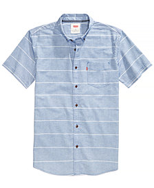 Levi's® Men's Slim-Fit Striped Short-Sleeve Oxford Shirt