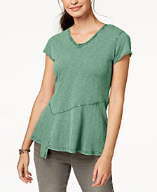 Style & Co Petite Asymmetrical Top, Created for Macy's