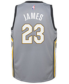 Nike LeBron James Cleveland Cavaliers City Edition Swingman Jersey, Big Boys (8-20)