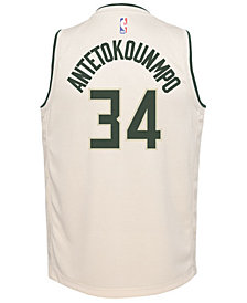 Nike Giannis Antetokounmpo Milwaukee Bucks City Edition Swingman Jersey, Big Boys (8-20)