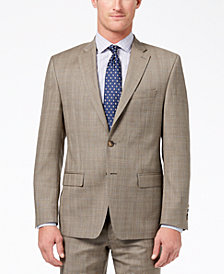 CLOSEOUT! Lauren Ralph Lauren Men's Slim-Fit Ultraflex Stretch Tan Check Suit Jacket