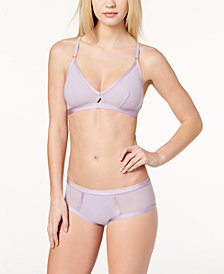 Cosabella Verona Keyhole Bralette & Sheer-Panel Brief