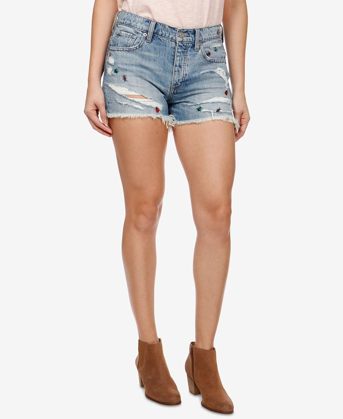 Lucky Brand - Embroidered Denim Shorts