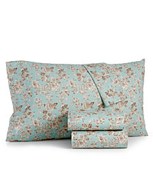 CLOSEOUT! Sanders Vintage Cotton 4-Pc. Farmhouse Floral King Sheet Set