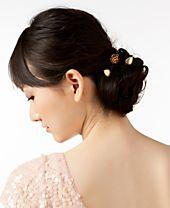 I.N.C. Gold-Tone 3-Pc. Set Leaf & Rose Hair Pins, Created for Macy's