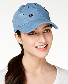 August Hats Charms Denim Baseball Cap