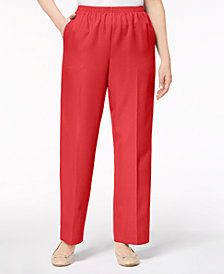Alfred Dunner Mid-rise Pull-On Pants
