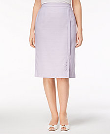 Alfred Dunner Petite Roman Holiday Pencil Skirt