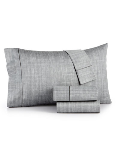 Closeout Hotel Collection Modern Grid Cotton 525 Thread Count 4 Pc California