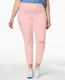 HUE® Women's  Plus Size Original Denim Ripped Knee , Created for Macy's