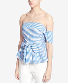 Catherine Catherine Malandrino Cotton Strapless Top