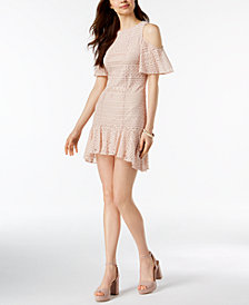 julia jordan Lace Cold-Shoulder Dress