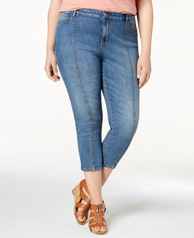 Style & Co Plus Size Seamed Capri Jeans, Created for Macy's